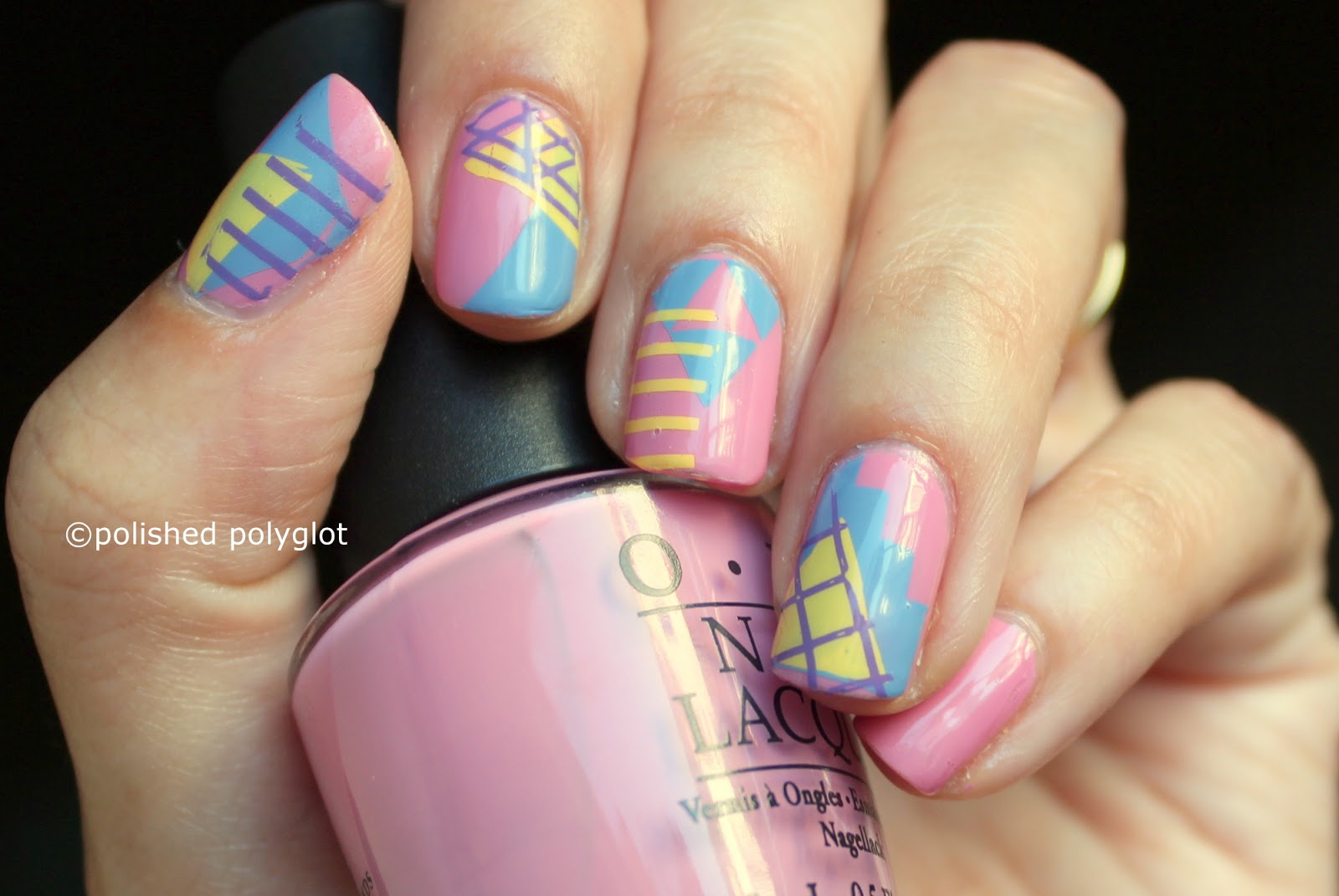 Nail art Designs for short nails: geometric shapes ...