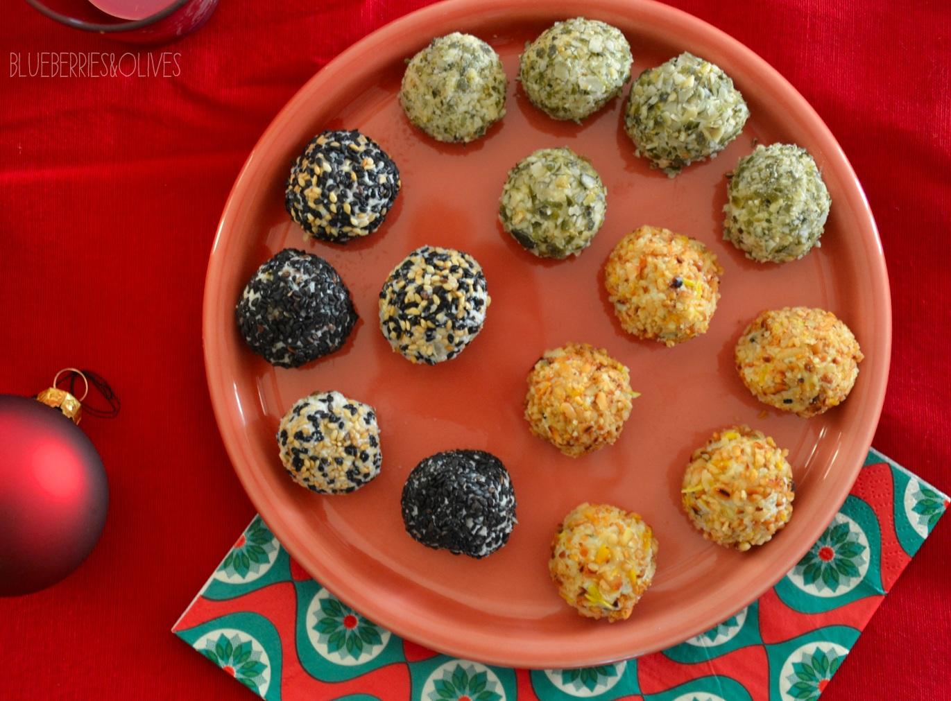 Bombones de queso con piña y frutos secos 2