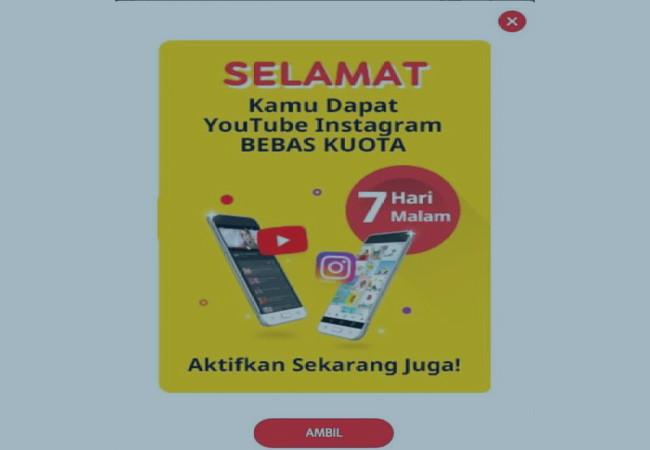 Cara Trik Indosat Ooredoo Kuota Gratis Youtube Dan Instagram 1GB Gratis Terbaru