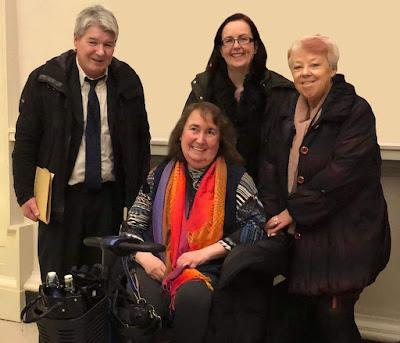 ME Advocates Ireland members with Declan from Irish M.E. Trust
