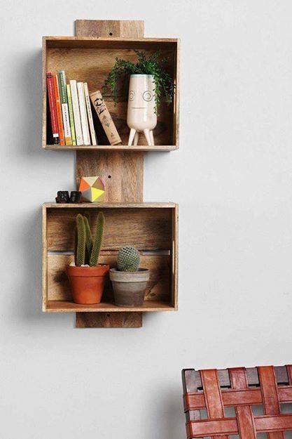 nicho reutilizar caixotes de madeira