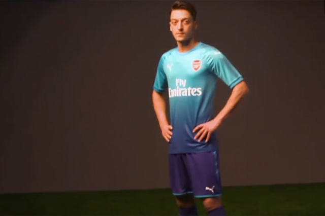 Arsenal's third away kit has yet to be officially unveiled