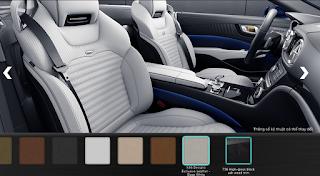 Nội thất Mercedes SL 400 2016 màu Trắng Deep X46
