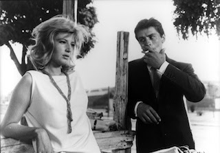 Monica Vitti and Alain Delon in L'Eclisse
