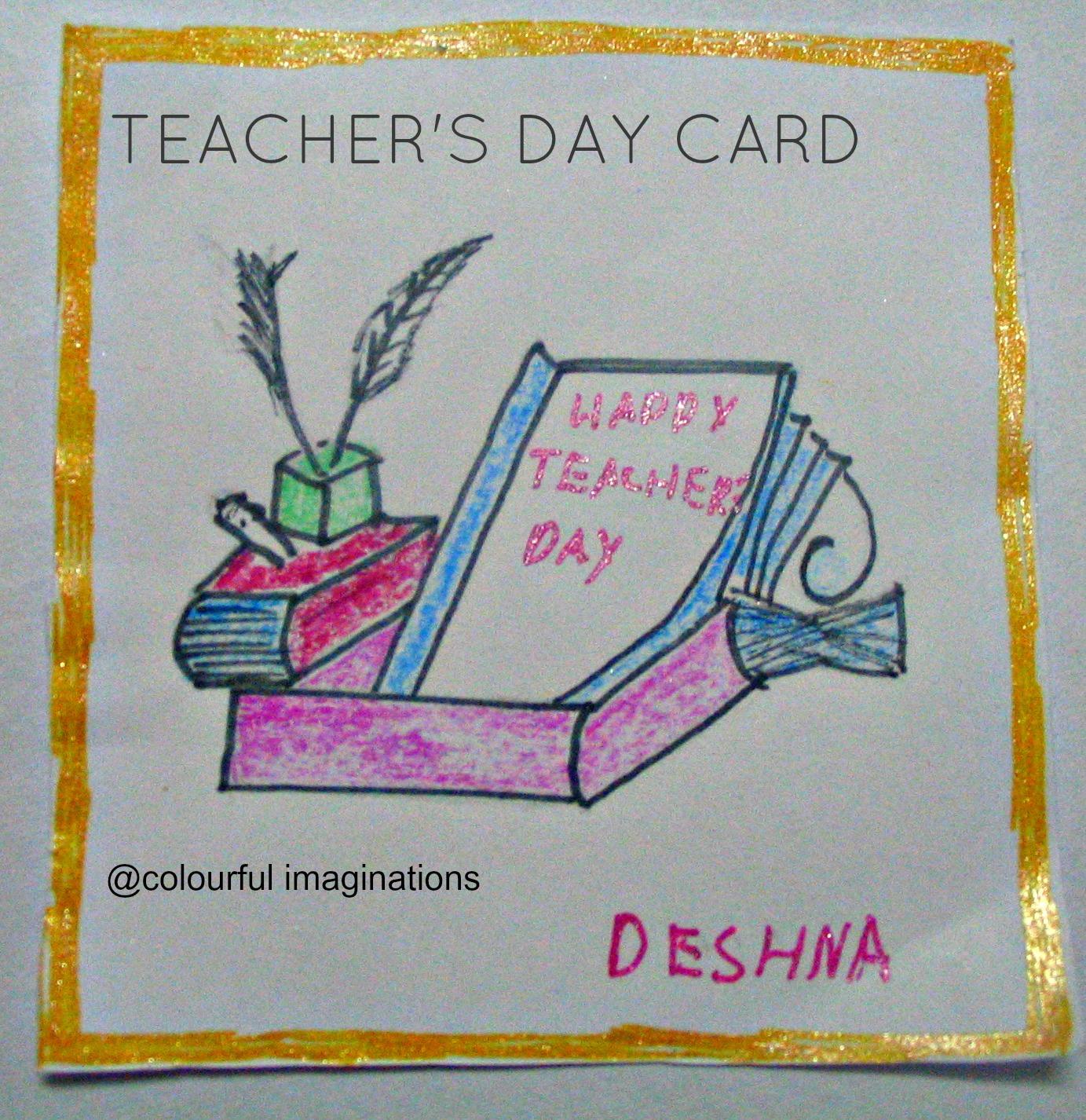 diy  teacher's day cards