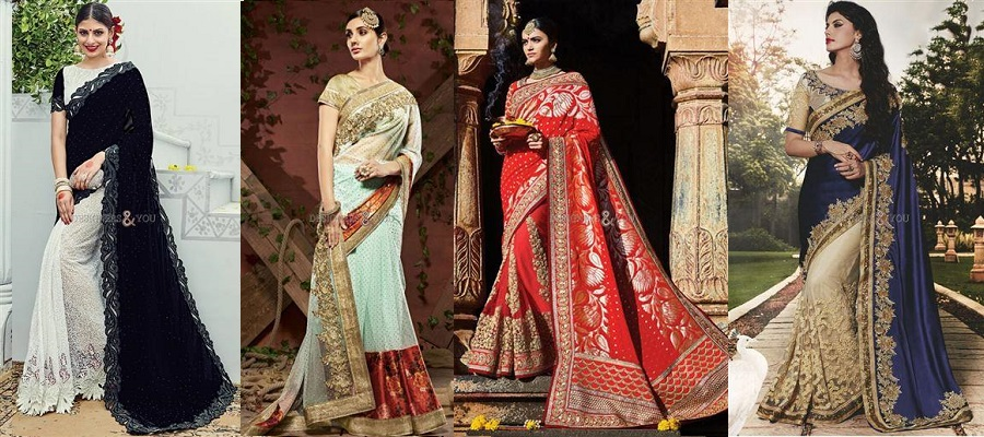 d7f18a07238 Searching For Perfect Designer Party Wear Sarees  Online Shopping Is The  Ultimate Solution
