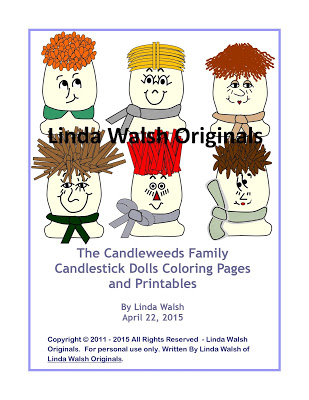 The Candleweeds Family Candlestick Dolls Free Coloring Pages <br>E-Book