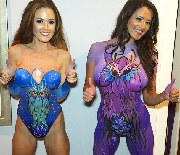 Body Paint Graffiti Art Projects Ideas
