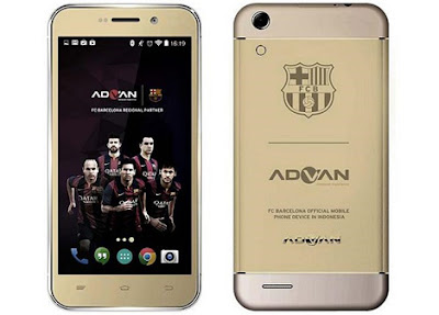 Harga Advan Barca i5A Terbaru, Spesifikasi Android Lollipop 4G LTE