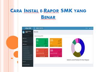 Cara Instal e-Rapor SMK yang Benar