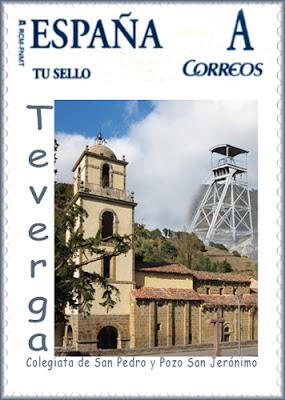 Tu Sello personalizado del Pozo San Jerónimo y la Colegiata de San Pedro de Teverga, Grucomi 2011