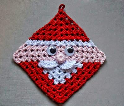 Agrarradera Santa Clauss crochet