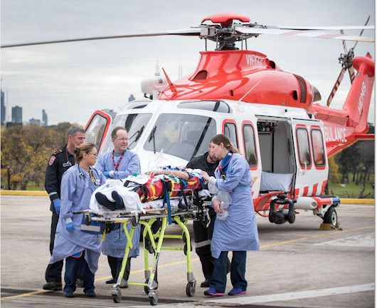 Photo of the week: Alfred air ambulance arrival and trauma reception