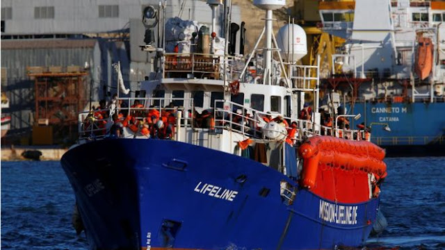 Migrant rescue ship Lifeline docks in Malta after days at sea