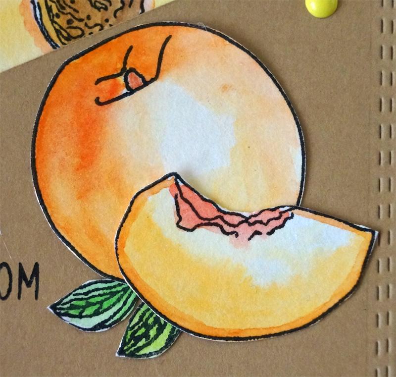 Новым годом, открытка персик