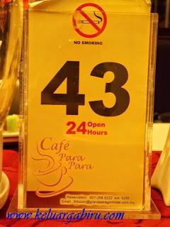 Dinner at Cafe Para Para
