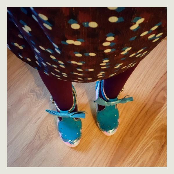 wearing irregular choice take a chance shoes