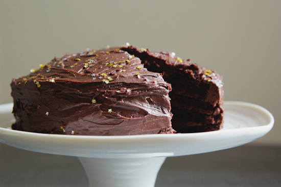 chocolate & sour cream cake