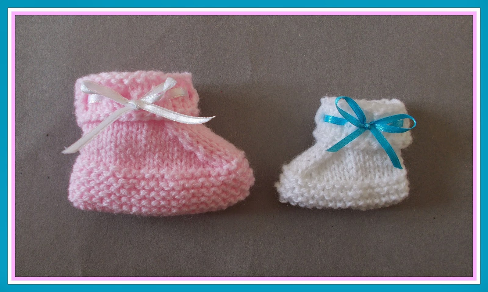 Knitting Yrn P2tog : Marianna s lazy daisy days ribbon bow booties