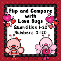 Flip and Compare with Love Bugs