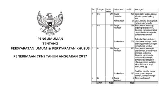 Telah Dibuka Seleksi CPNS 2017 Formasi Umum Bulan Oktober 2017