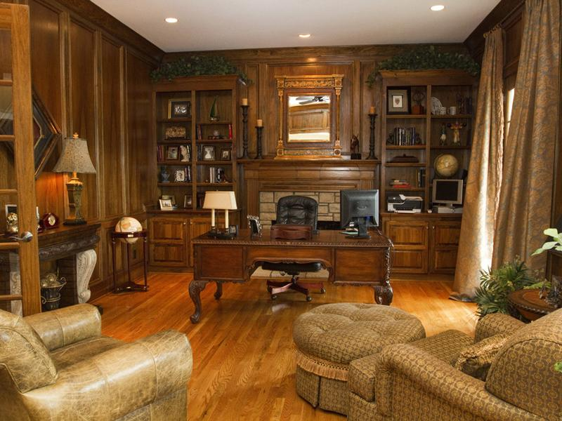 Masculine Home Office Decor Small