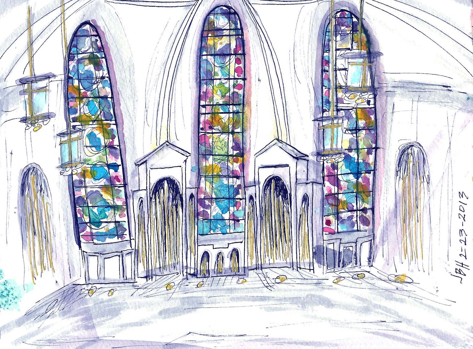 Urban Sketchers Seattle: Stained Glass Windows at St ...