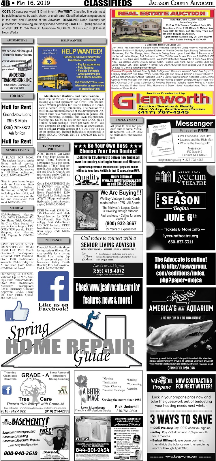 Jackson County Advocate Newspaper - Covering Grandview