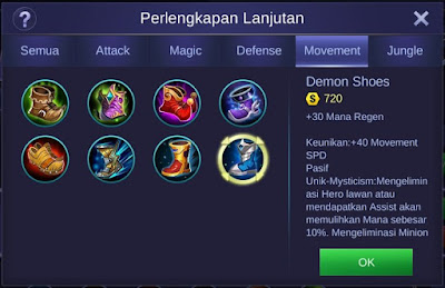 Demon Shoes Mobile Legends