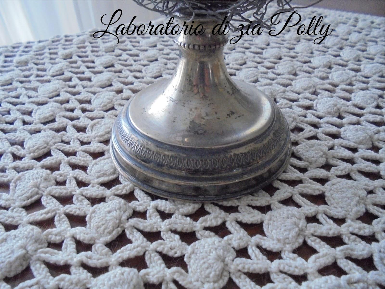 Credenza Con Rete Da Conigliera : Laboratorio di zia polly: una vecchia base in argento dimenticata