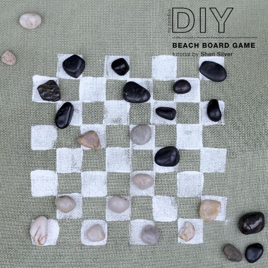 Beach board game diy by @sheri127