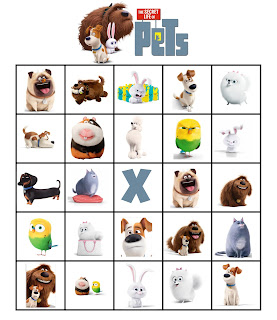 Secret Life of Pets Bingo