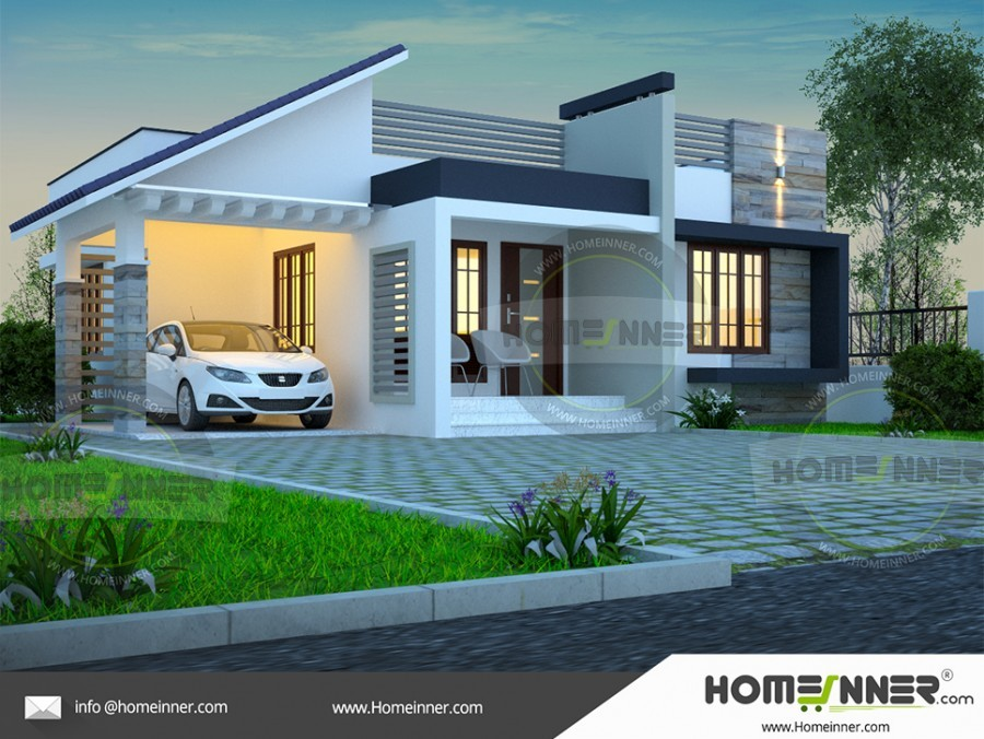 1219 Sq Ft 3bhk Small House Design