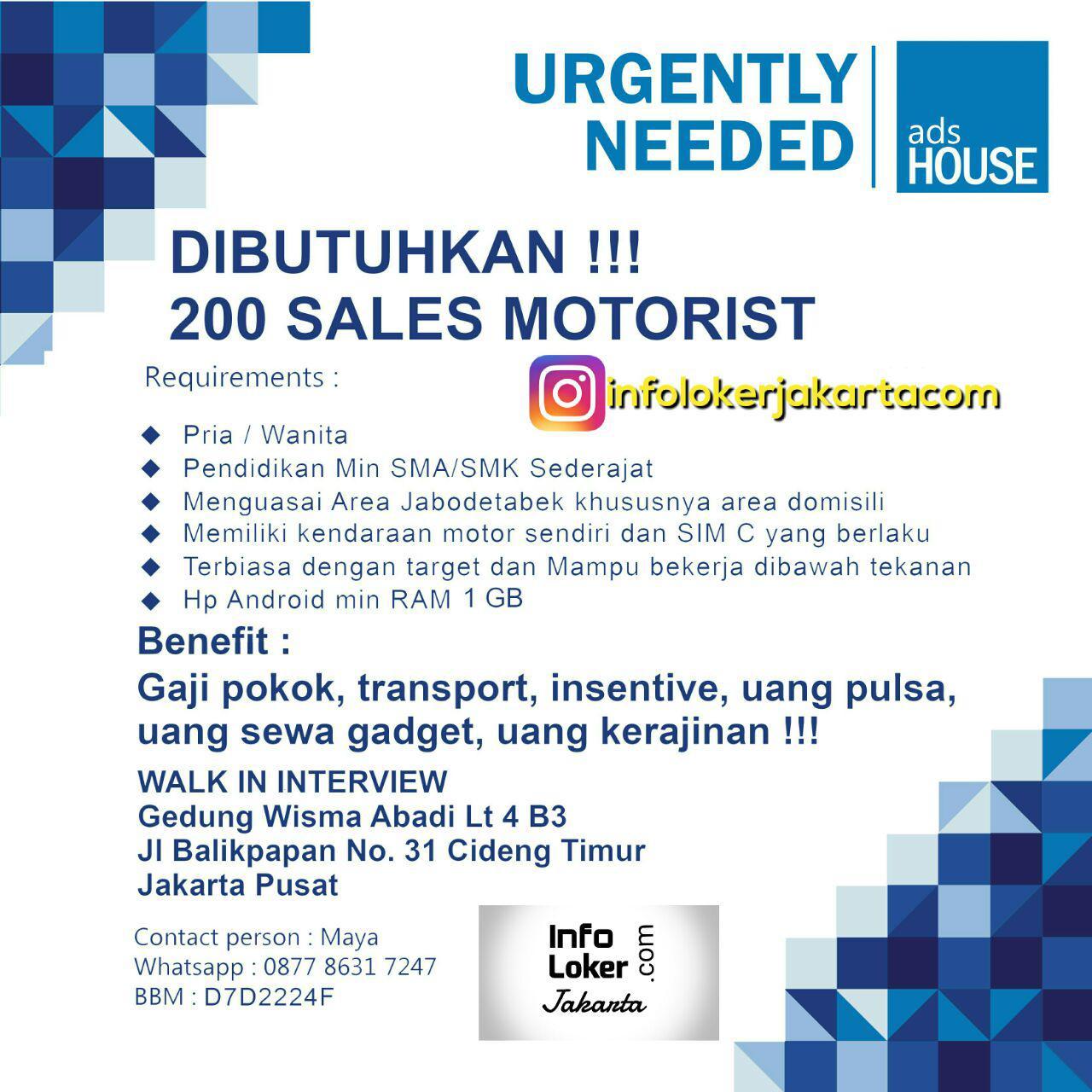 Lowongan Kerja PT. Ads House Indonesia