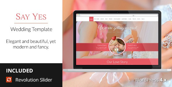 Free WordPress Wedding Theme