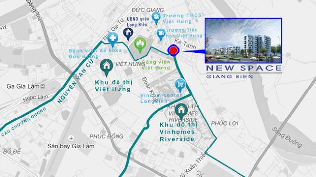 Vị trí dự án New Space Giang Biên