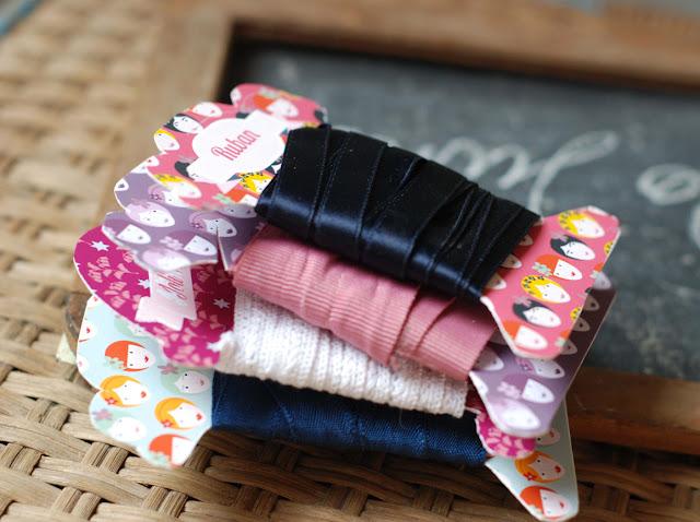 hello june _carton pour ruban_ ribbon card board _printable