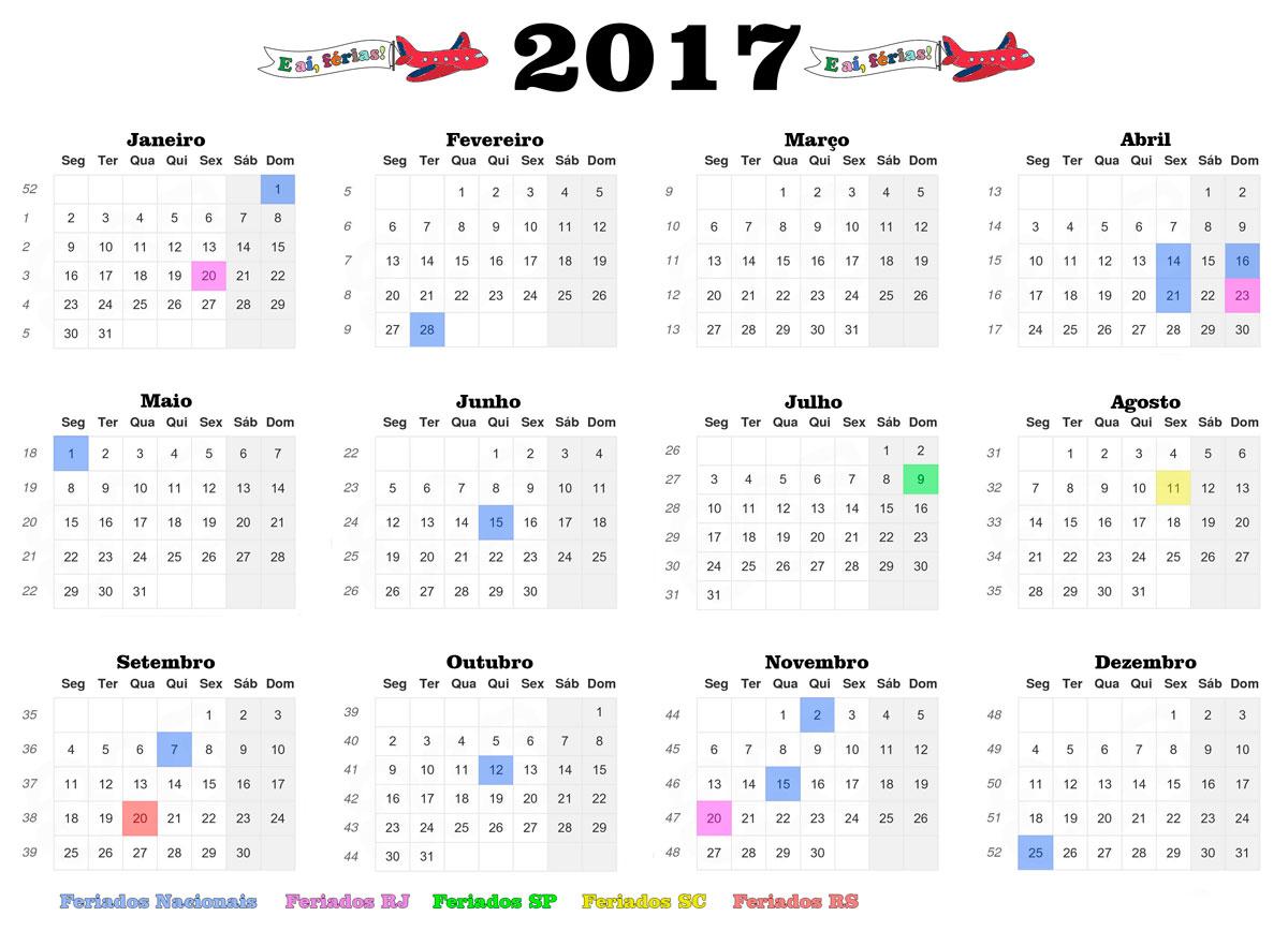 Feriados 2017 como marcar as suas f rias e a f rias for Calendario ferias