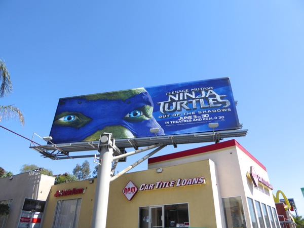 Ninja Turtles 2 Leonardo mask billboard