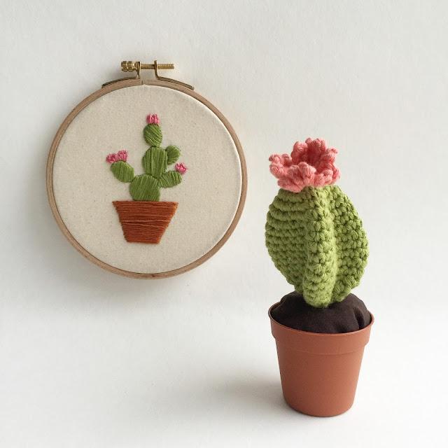 amigurumi cactus embroidery