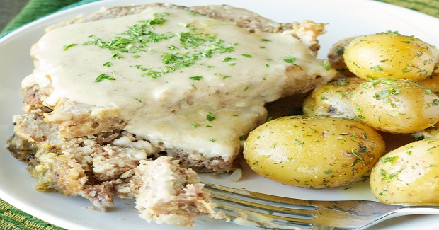 Slow Cooker Creamy Meatloaf With Baby Dill Potatoes Recipe