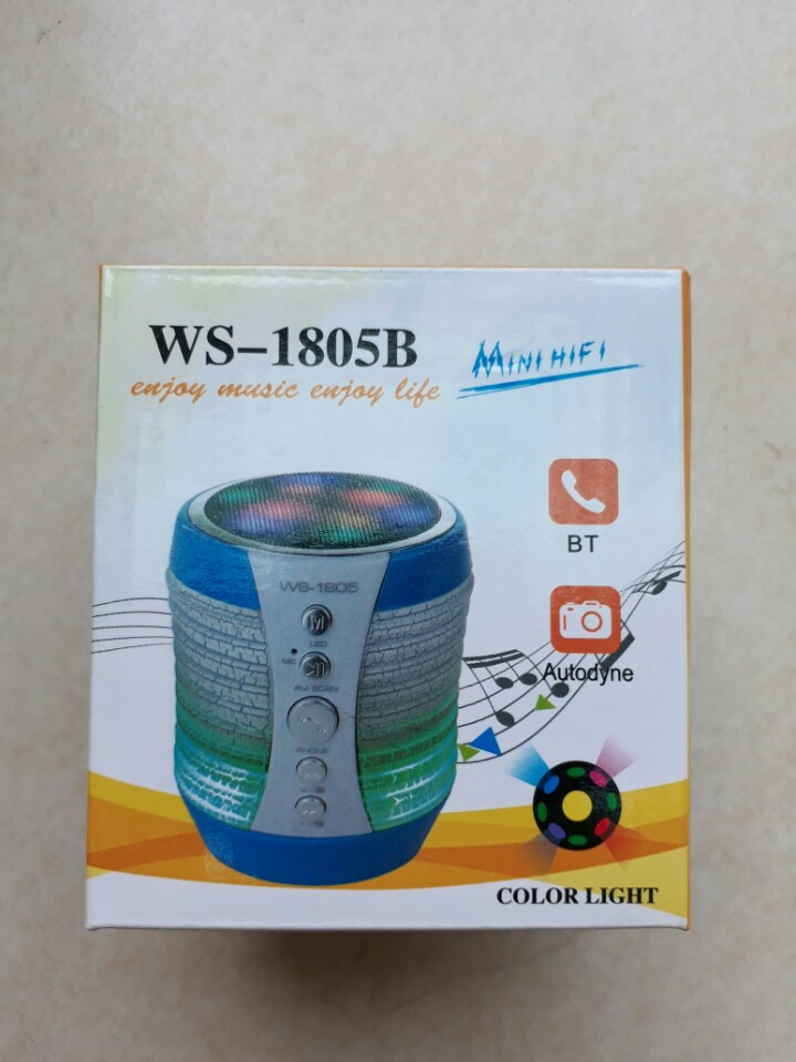 114k - Loa bluetooth WS-1805B có đèn led đổi màu cực đẹp giá sỉ và lẻ rẻ nhất