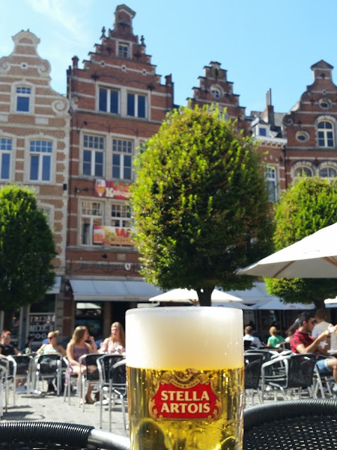 Stella Artois beer in the capital of beer Leuven