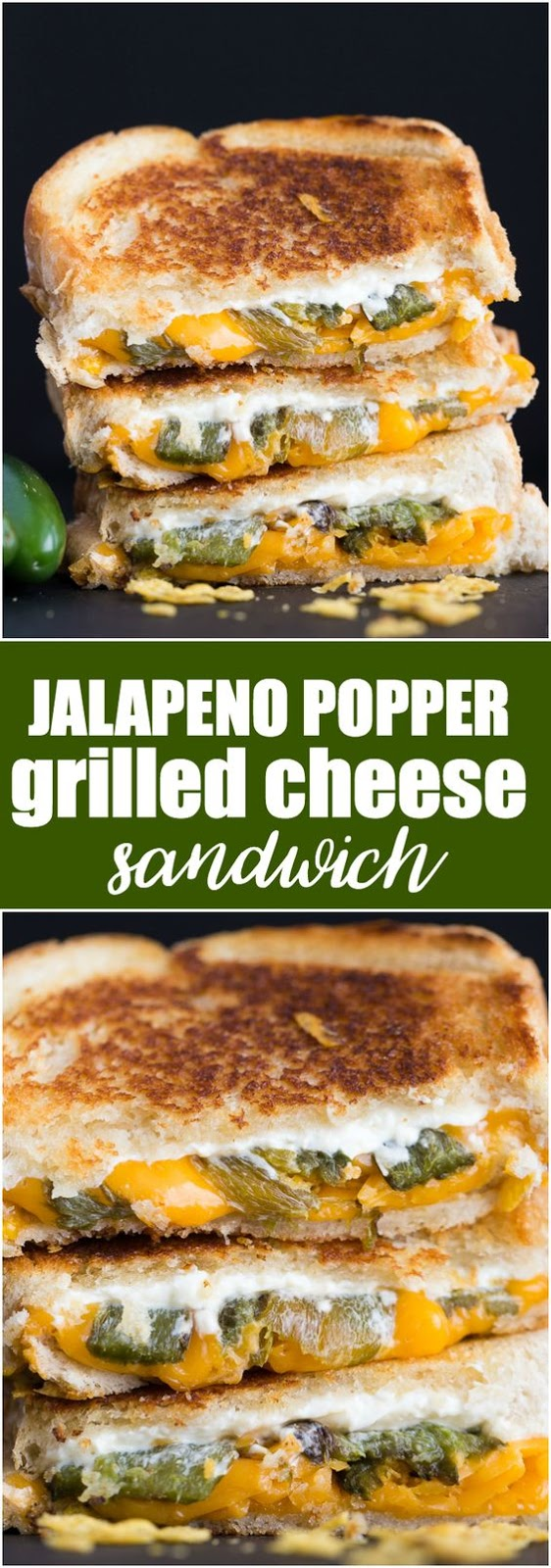 Jalapeno Popper Grilled Cheese Sandwich Recipe - CUCINA DE ...