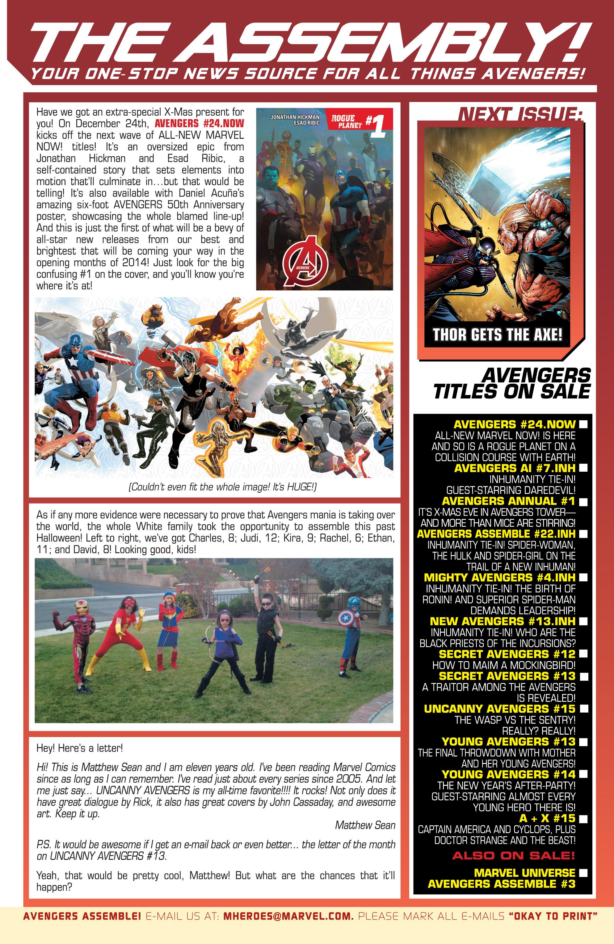 Read online Uncanny Avengers (2012) comic -  Issue #15 - 23