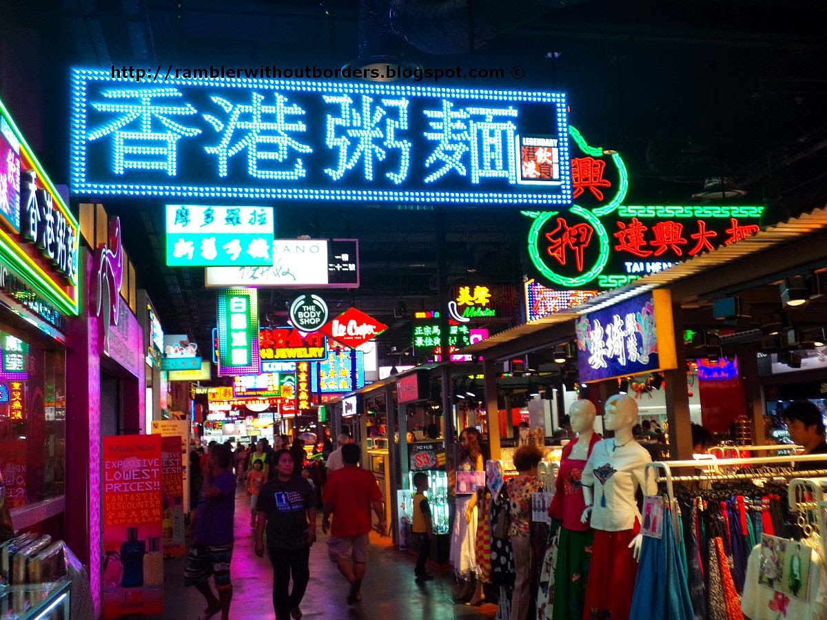 business neon signs of Mongkok, Jurong Point shopping mall, Singapore