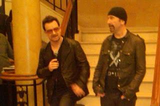 Bono y Edge en nueva York el 9 de Junio de 2011