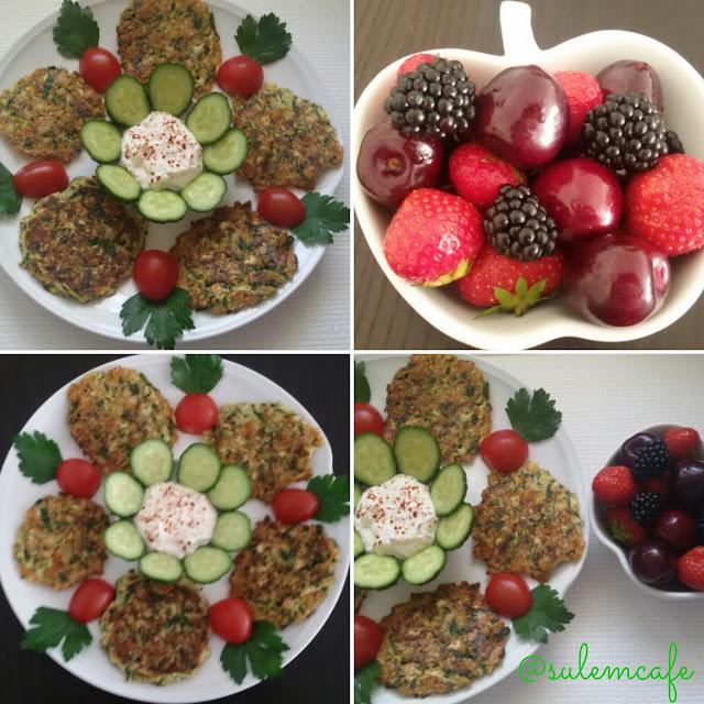lowcarb,zucchinipuffer,mücver,diyet,sagliklibeslenme