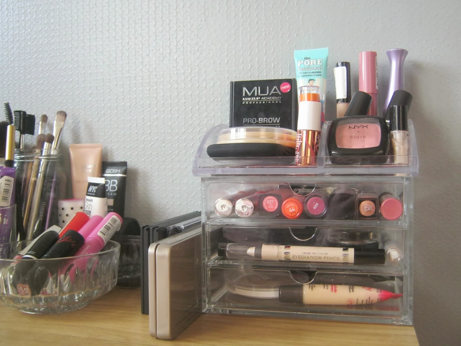My Most Reached For Makeup Is D In Ryman Desk Organiser And Acrylic 3 Drawer Chest That Arrived The Post This Morning
