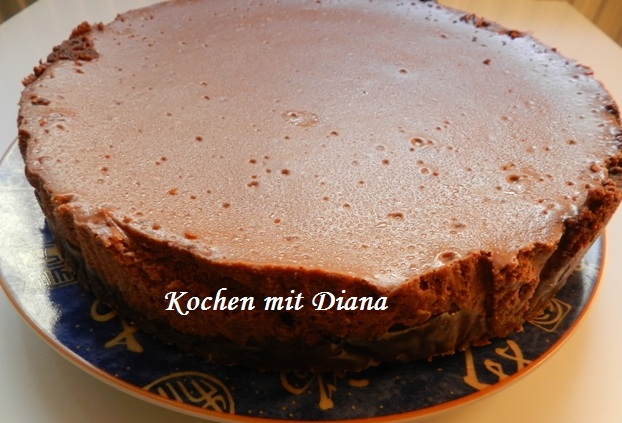 Schoko-Cheesecake - gebacken